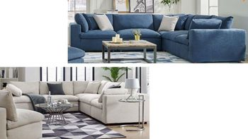 Commix Down Filled Overstuffed 5 Piece Sectional Sofa Set 3359