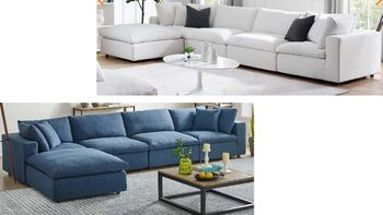 Commix Down Filled Overstuffed 5 Piece Sectional Sofa Set 3358
