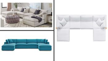 Commix Down Filled Overstuffed 6 Piece Sectional Sofa Set 3362