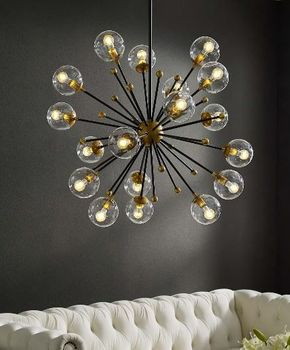 Constellation Clear Glass and Brass Ceiling Light Pendant 3273 Chandelier