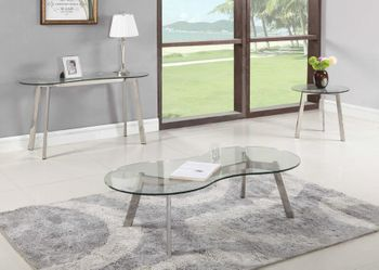 Contemporary Curved Glass Cocktail Table 2025