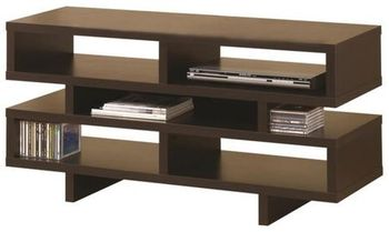 TV Console With 5 Open Compartments # 700720