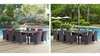 CONVENE 11 PIECE OUTDOOR PATIO DINING SET IN ESPRESSO