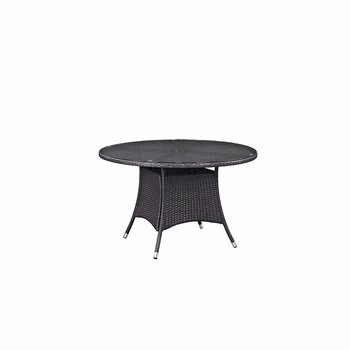 "CONVENE 47"" ROUND OUTDOOR PATIO DINING TABLE IN ESPRESSO"