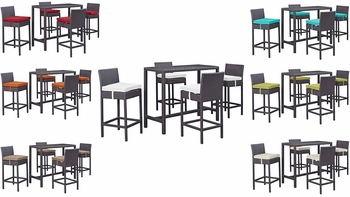 CONVENE 5 PIECE OUTDOOR PATIO PUB SET IN ESPRESSO