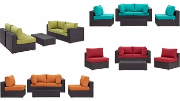 CONVENE 5 PIECE OUTDOOR PATIO SECTIONAL SET 2163