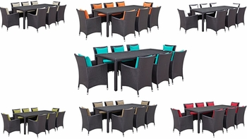 CONVENE 9 PIECE OUTDOOR PATIO DINING SET IN ESPRESSO