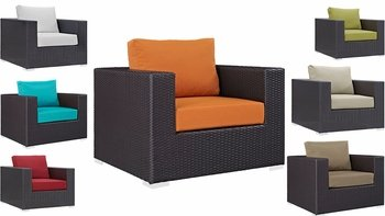 Convene Outdoor Patio Armchair in Espresso 1906