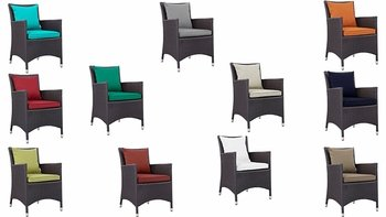 CONVENE DINING OUTDOOR PATIO ARMCHAIR IN ESPRESSO
