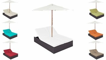 CONVENE DOUBLE OUTDOOR PATIO CHAISE IN ESPRESSO