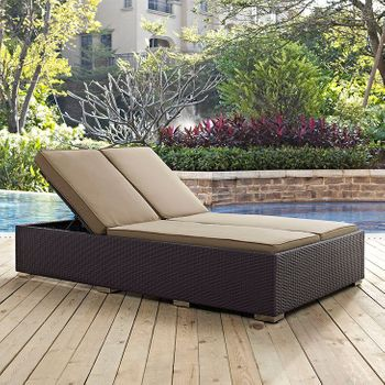 CONVENE DOUBLE OUTDOOR PATIO 2177 CHAISE IN ESPRESSO