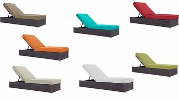 CONVENE OUTDOOR PATIO CHAISE LOUNGE IN ESPRESSO