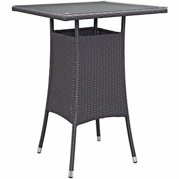 CONVENE SMALL OUTDOOR PATIO BAR TABLE IN ESPRESSO