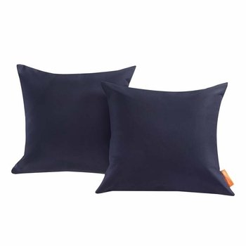 CONVENE TWO PIECE OUTDOOR PATIO PILLOW SET IN NAVY