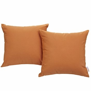 CONVENE TWO PIECE OUTDOOR PATIO PILLOW SET IN ORANGE