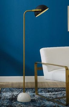Convey Bronze and White Marble Floor Lamp 2945