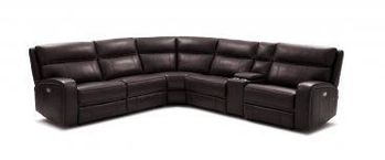 Cozy 6Pc Motion Sectional In Chocolate