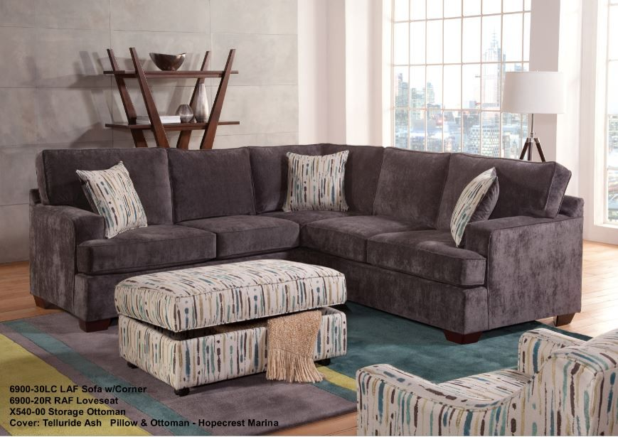 Custom Made In Usa Corner Sectional 6900 5 Year Warranty Dc Furniture Stores