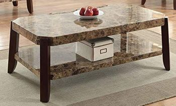 Dacia Coffee Table with Faux Marble Top # 82125
