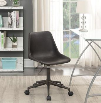Adjustable Height Office Chair With Casters Brown And Rustic Taupe 803378