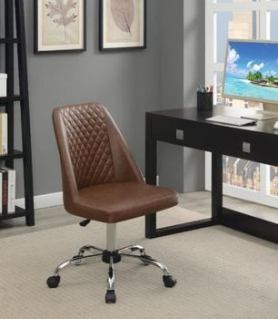 Upholstered Tufted Back Office Chair Chrome # 881196
