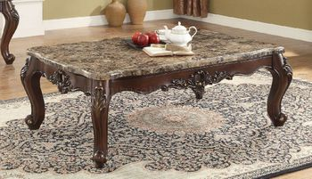 Devayne Coffee Table with Marble Top # 81685