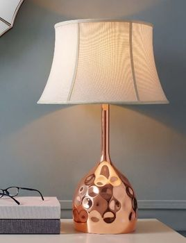 Dimple Rose Gold Table Lamp 3081