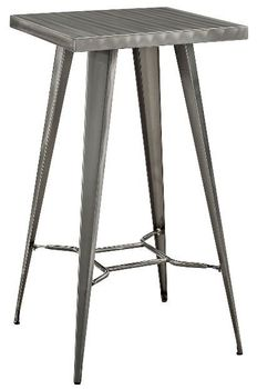 Direct Metal Bar Table in Gunmetal # 2037