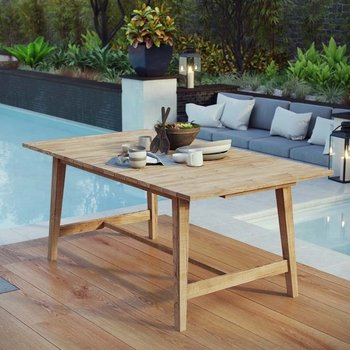 DORSET OUTDOOR PATIO TEAK 2712 DINING TABLE
