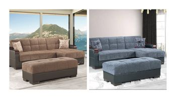Downtown Sectional Sleeper with Storage