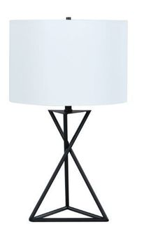 Drum Table Lamp White And Black 920051