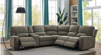 Dundee 6-Piece Power^2 Sectional Beige 603380