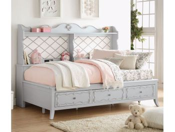 Edalene wooden full Day Bed with trundle # 39185