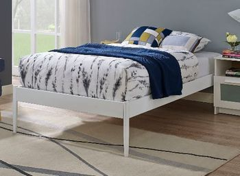 Elsie Twin Bed Frame in White