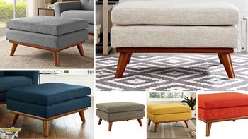 Engage Upholstered Fabric Ottoman # 1797