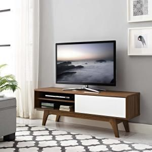 "Envision 48"" TV Stand in Walnut White 2538"