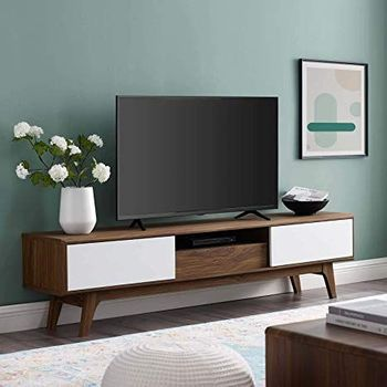 "Envision 70"" Media Console Wood 3304 TV Stand in Walnut White"
