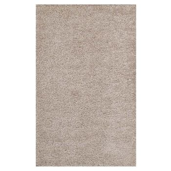 ENYSSA SOLID 5X8 SHAG AREA RUG IN BEIGE AND IVORY