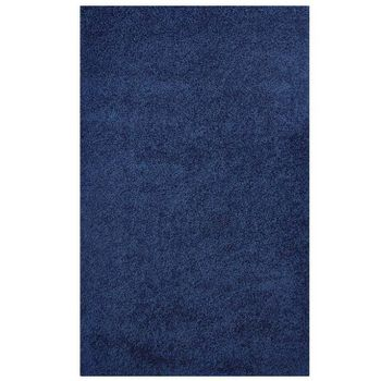 ENYSSA SOLID 5X8 SHAG AREA RUG IN NAVY