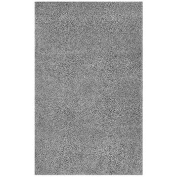 ENYSSA SOLID 5X8 SHAG AREA 1145A RUG IN SILVER GRAY