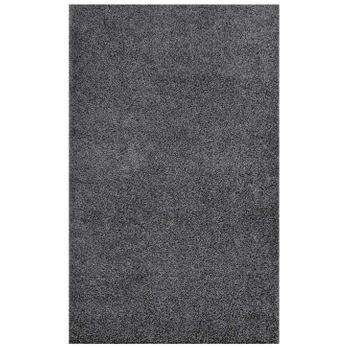ENYSSA SOLID 8X10 SHAG AREA RUG IN DARK GRAY