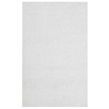 ENYSSA SOLID 8X10 SHAG AREA RUG IN IVORY WHITE