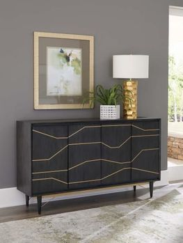 Evianna Brass Cabinet by Scott Living