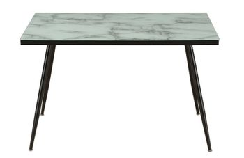 Faux Marble Top Dining Table White And Grey