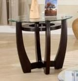 Floor model Occasional End Table Set with Glass Tops