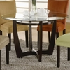 Floor model Bloomfield Round Cross Table Base with Beveled Glass Top