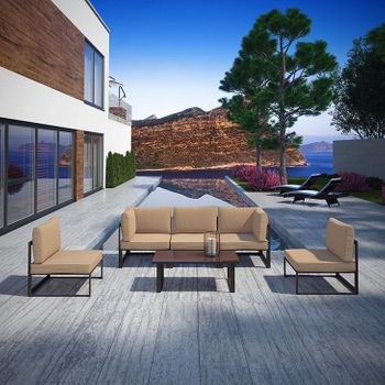FORTUNA 6 PIECE OUTDOOR PATIO SECTIONAL 1726 SOFA SET