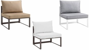 FORTUNA ARMLESS OUTDOOR PATIO ARMLESS CHAIR