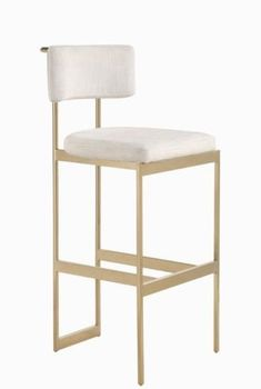 Francesca Counter Height Brass Stools by Scott Living