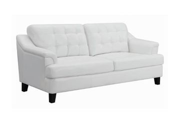 Freeport Tufted Upholstered Sofa Snow White